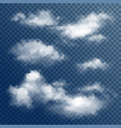 transparent white clouds vector image vector image