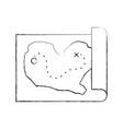 treasure map game icon vector image vector image