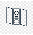 trifold concept linear icon isolated on vector image