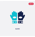 two color glove icon from american football vector image vector image