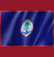 waving flag of guam vector image