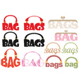 word of bag vector image vector image
