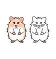 cute red eyes hamster vector image