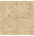 Abstract Retro Topography map Background vector image
