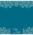 Greeting card template for wedding or birthday vector image