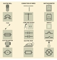 Elements of electric chain vector image