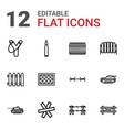 12 defense icons vector image vector image