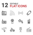 12 wireless icons vector image vector image
