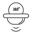 360 motion sensor icon outline style vector image vector image