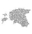 abstract schematic map of estonia from the black vector image vector image