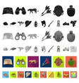 african safari flat icons in set collection for vector image vector image