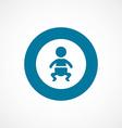 baby bold blue border circle icon vector image