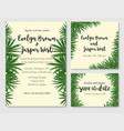 beautiful set of wedding invitation cards vector image vector image
