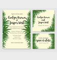 beautiful set of wedding invitation cards with a vector image vector image