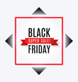 black friday super sale banner with ribbon vector image