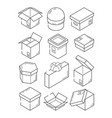 box isometric icon cardboard export package vector image vector image