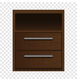 brown nightstand mockup realistic style vector image vector image