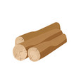 brown tree trunks flat wooden vector image