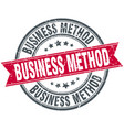 business method round grunge ribbon stamp vector image vector image