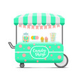 candy shop street food cart colorful image vector image vector image
