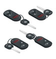 Car Keys isometric set Flat 3d vector image