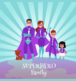 caucasian family superheroes in capes and vector image vector image