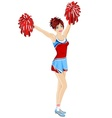 Cheerleader with poms vector | Price: 3 Credits (USD $3)