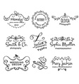 collection of photography hand drawn logo vector image vector image