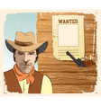 cowboy and gun vector image vector image