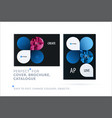 creative design of business brochure set abstract vector image