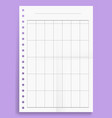 crumpled standart blank montly planner series a4 vector image