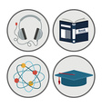 e-learning design vector image vector image