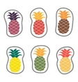 embroidery summer patches collection set vector image
