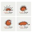 Funny hedgehog logo set for your design vector image