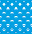 gear pattern seamless blue vector image