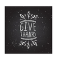 Give thanks - typographic element vector image