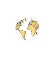 Globe earth computer symbol vector image vector image