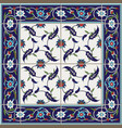 gorgeous seamless pattern from tiles and border vector image vector image