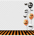 halloween background with striped room vector image vector image