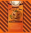 halloween greeting card with jack o lantern vector image