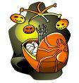 halloween lullaby vector image vector image