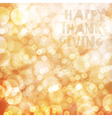 Happy Thanksgiving card design template Blur vector image vector image