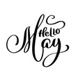 hello may handwriting lettering design for banner vector image