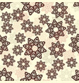 henna color mandala-flower seamless pattern on vector image vector image
