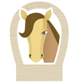 horse muzzle vector image vector image