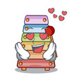 in love colorful toy xylophone on mallets mascot vector image vector image