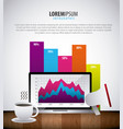 infographic statistics analysis vector image vector image