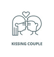 kissing couple line icon linear concept vector image vector image