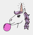 lovely hand-drawn unicorn vector image vector image