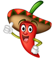 Mexican Red Chilli vector image